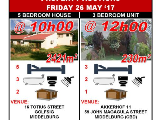 PROPERTY AUCTIONS FRIDAY 26 MAY '17