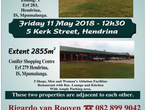 Undeveloped Prime Stand on Auction – 11 May 2018 at 12h00