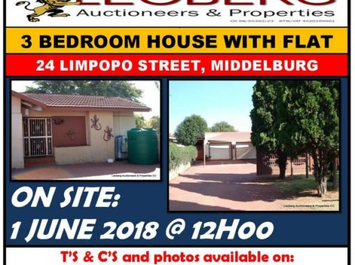 3 Bedroom House with Flat on Auction 1 June 2018 at 12h00