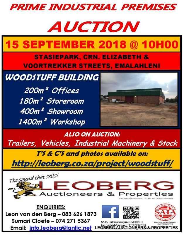 PRIME INDUSTRIAL PREMISES, TRALIERS, VEHICLES & INDUSTRIAL MACHINERY ON AUCTION