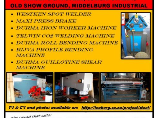 METAL FABRICATION MACHINERY – AUCTION
