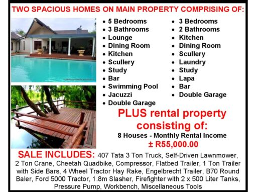 EXQUISITE 48HA ESTATE with 10 HOUSES – FOR SALE – MIDDELBURG, MPUMALANGA