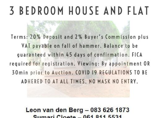 DECEASED ESTATE PROPERTY AUCTION – MOOKGOPONG (NABOOMSPRUIT) – 9 APRIL 2021 AT 12H00